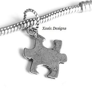 European Puzzle Autism Awareness Charm Pendant
